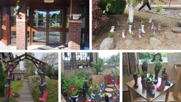 Welly boot garden project helps HC-One care homes connect with local community